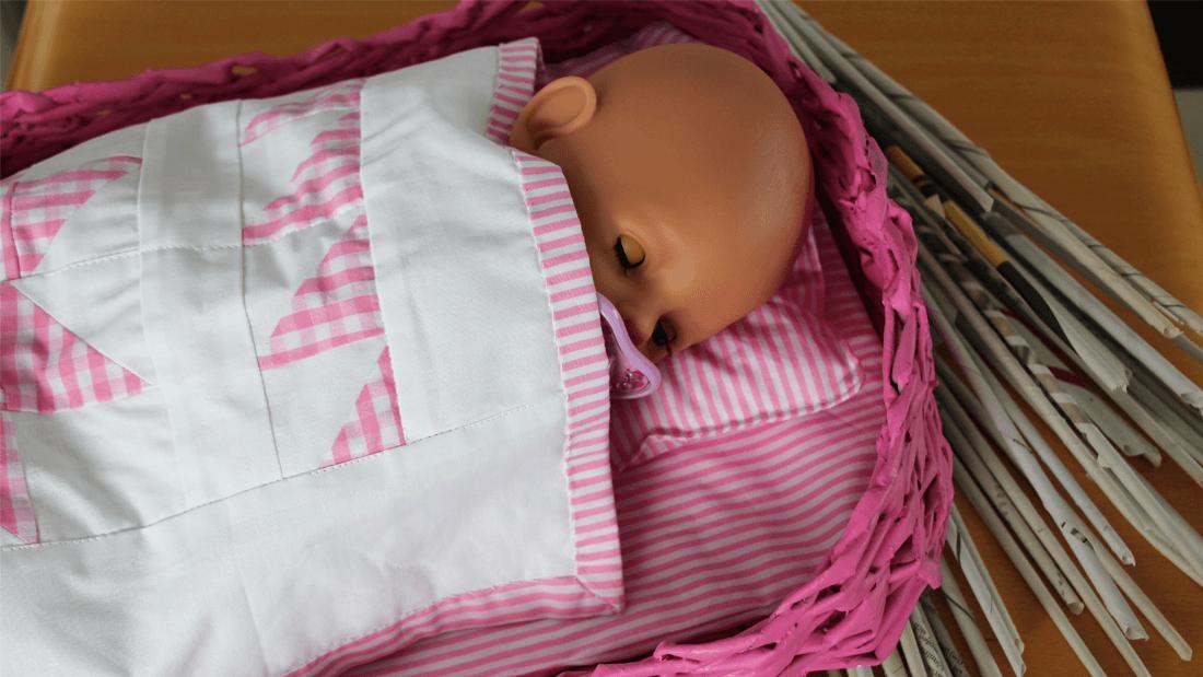Babybett_und_Babyquilt
