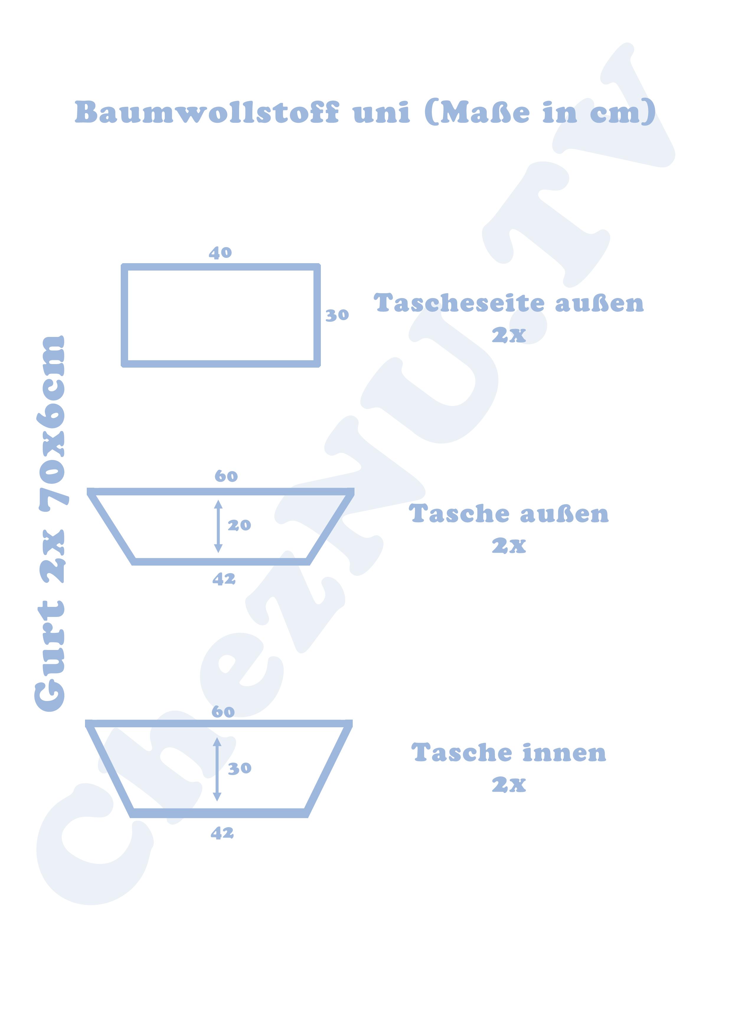 Tasche für den Garten nähen | mit Wachstuch | ausführliche Erklärung