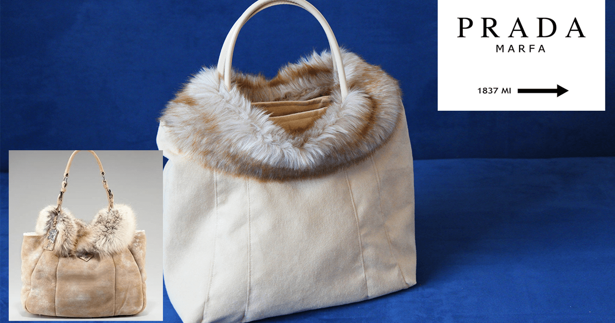 Fell – Handtasche DIY | Wie Prada Montone Shearling with Fox Trim