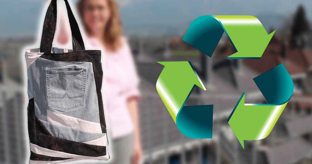 Upcycling Patchwork Jeanstasche Nahen Aus Alten Jeans
