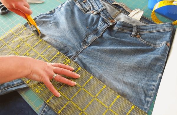 Rock Aus Alter Jeans Nahen Ein Schnelles Diy Upcycling Projekt