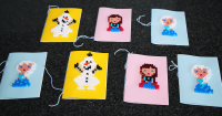 Hama Frozen Einladungen DIY