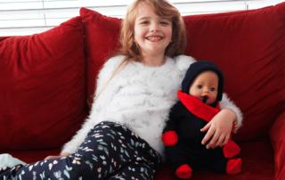 Puppen-Overall stricken