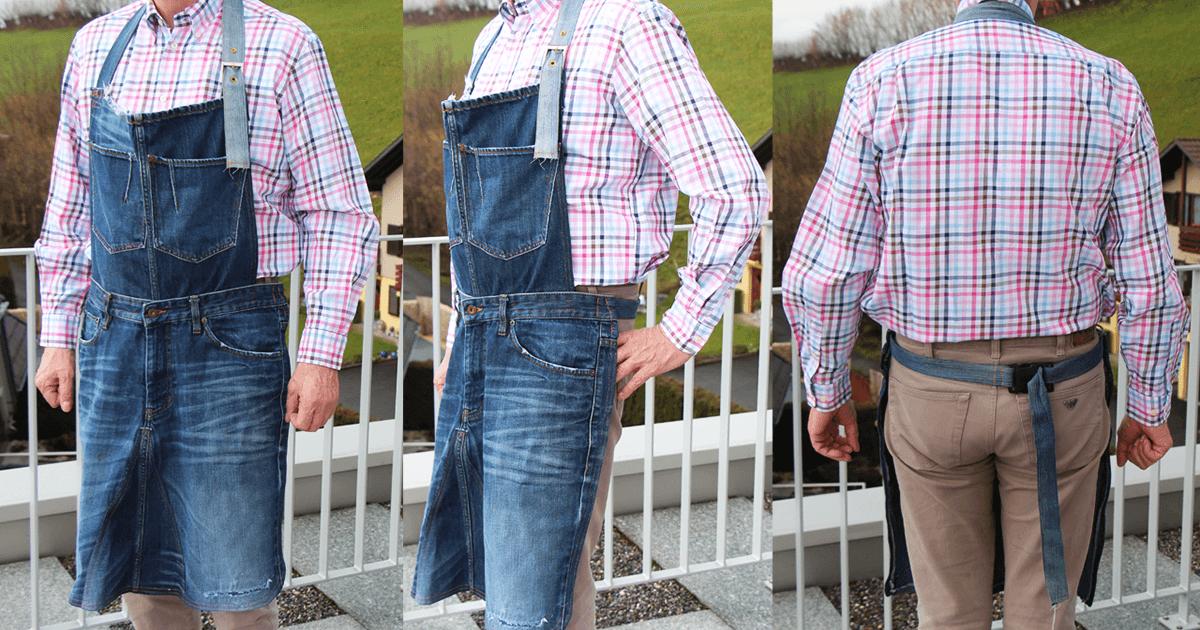 Schürze nähen aus einer alten Jeans - Upcycling
