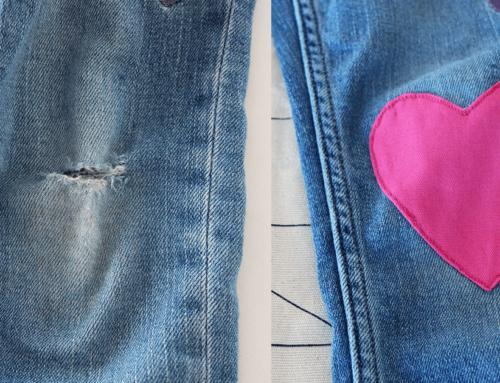 Jeans am Knie flicken | Flicken selbst machen