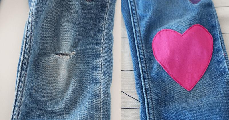 Jeans am Knie flicken - Videotutorial