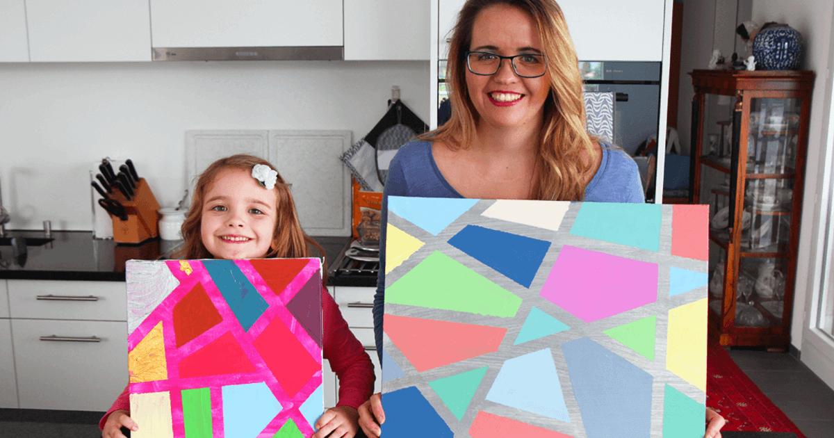 Malen mit Kindern - eine einfache Technik mit Acrylfarben