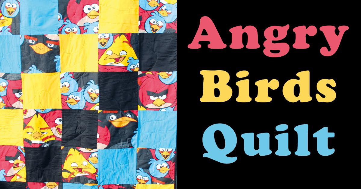Angry Birds Quilt nähen aus Bettwäsche von Aldi