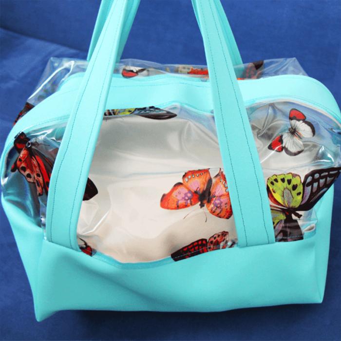 Halbtransparente Boxbag   Schnittmuster zum Ausdrucken
