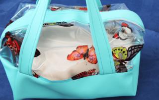 Halbtransparente Boxbag nähen