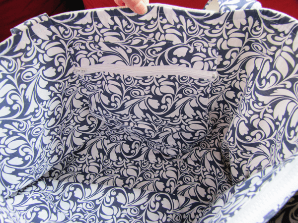 Schnittmuster Laptoptasche Nizza mit Reissverschlusstasche