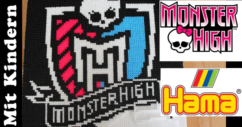 Monster High Wappen aus Hama-Perlen stecken