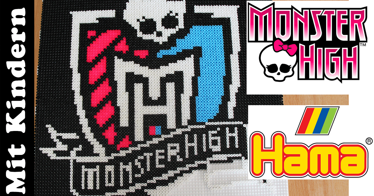 Monster High Wappen aus Hama-Perlen stecken