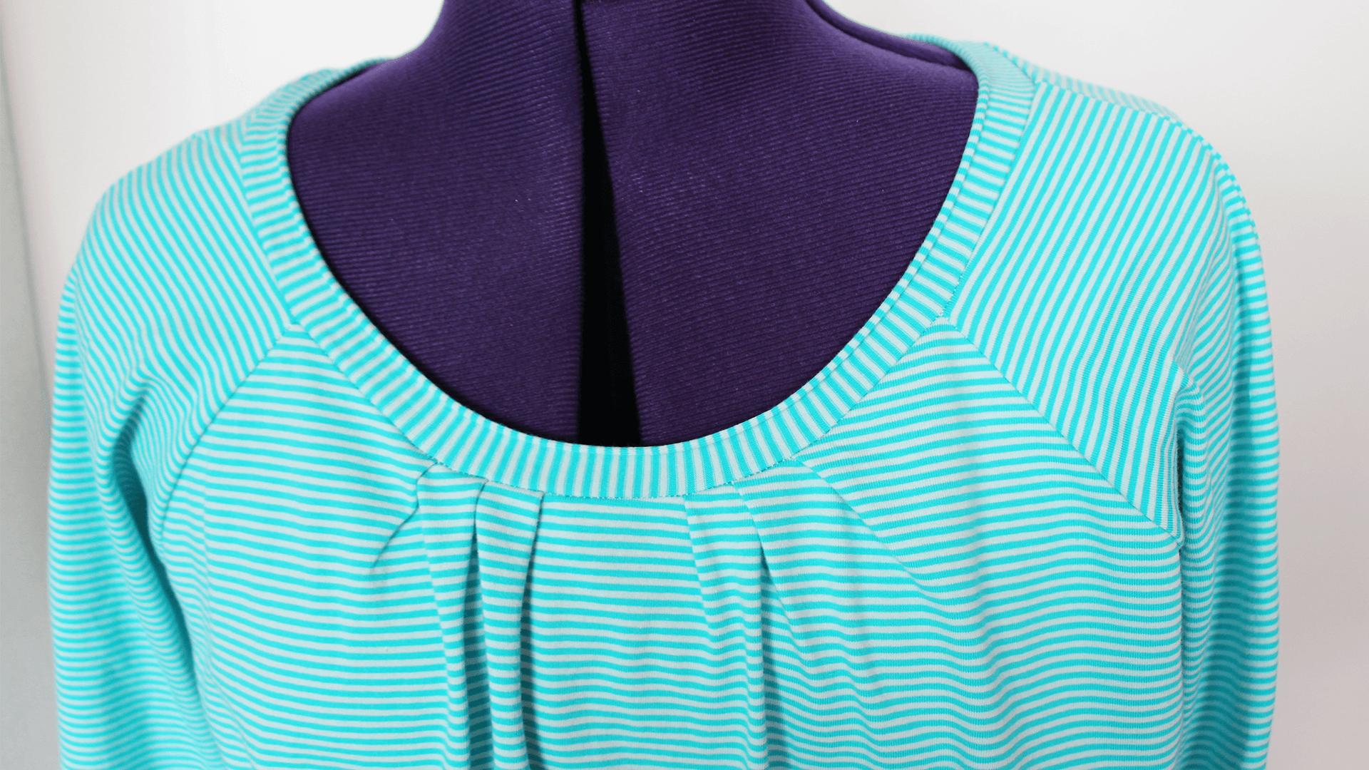 T Shirt Mit Rollrand Einfacher Halsausschnitt Nähen Cheznutv