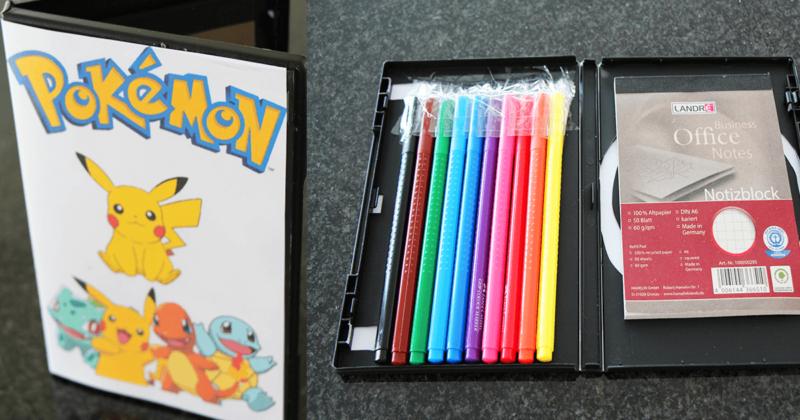 Pokemon Art Case basteln aus alter DVD-Hülle