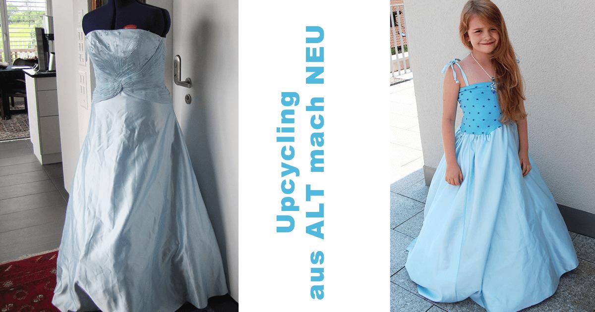 Prinzessinnenkleid aus altem Abendkleid