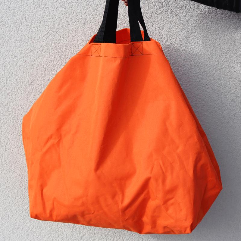 Grosseinkäufe farblich sortiert - orange Tasche Schnittmuster