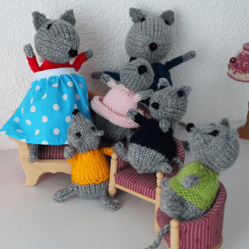Mäuse stricken mit gratis Strickanleitung