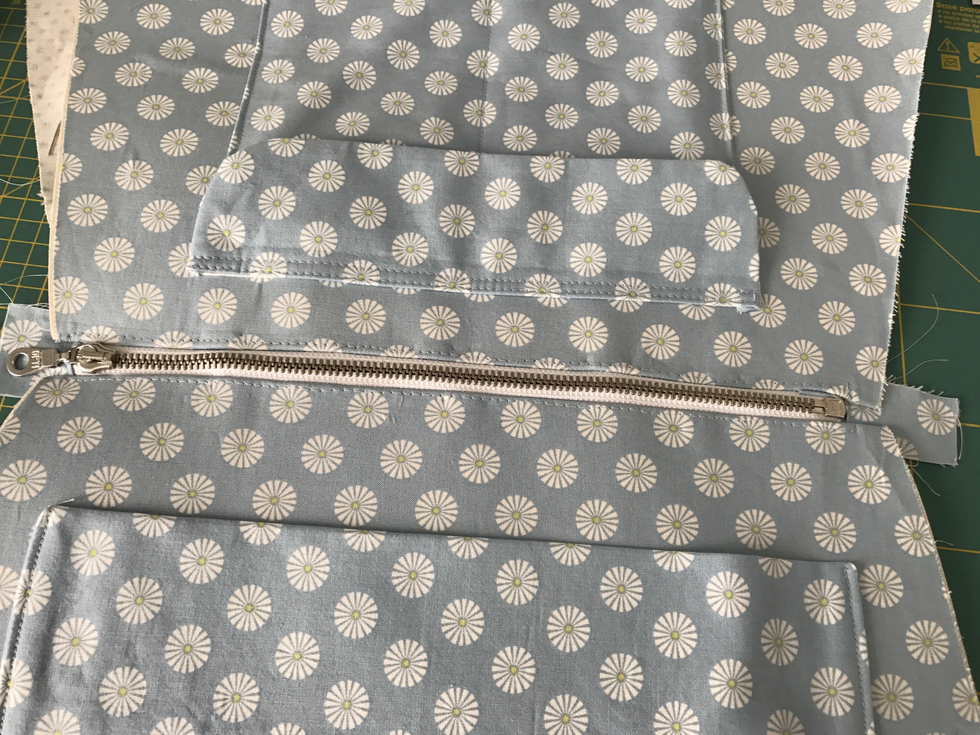 Handtasche nähen mit Schnittmuster mit vielen Innentaschen
