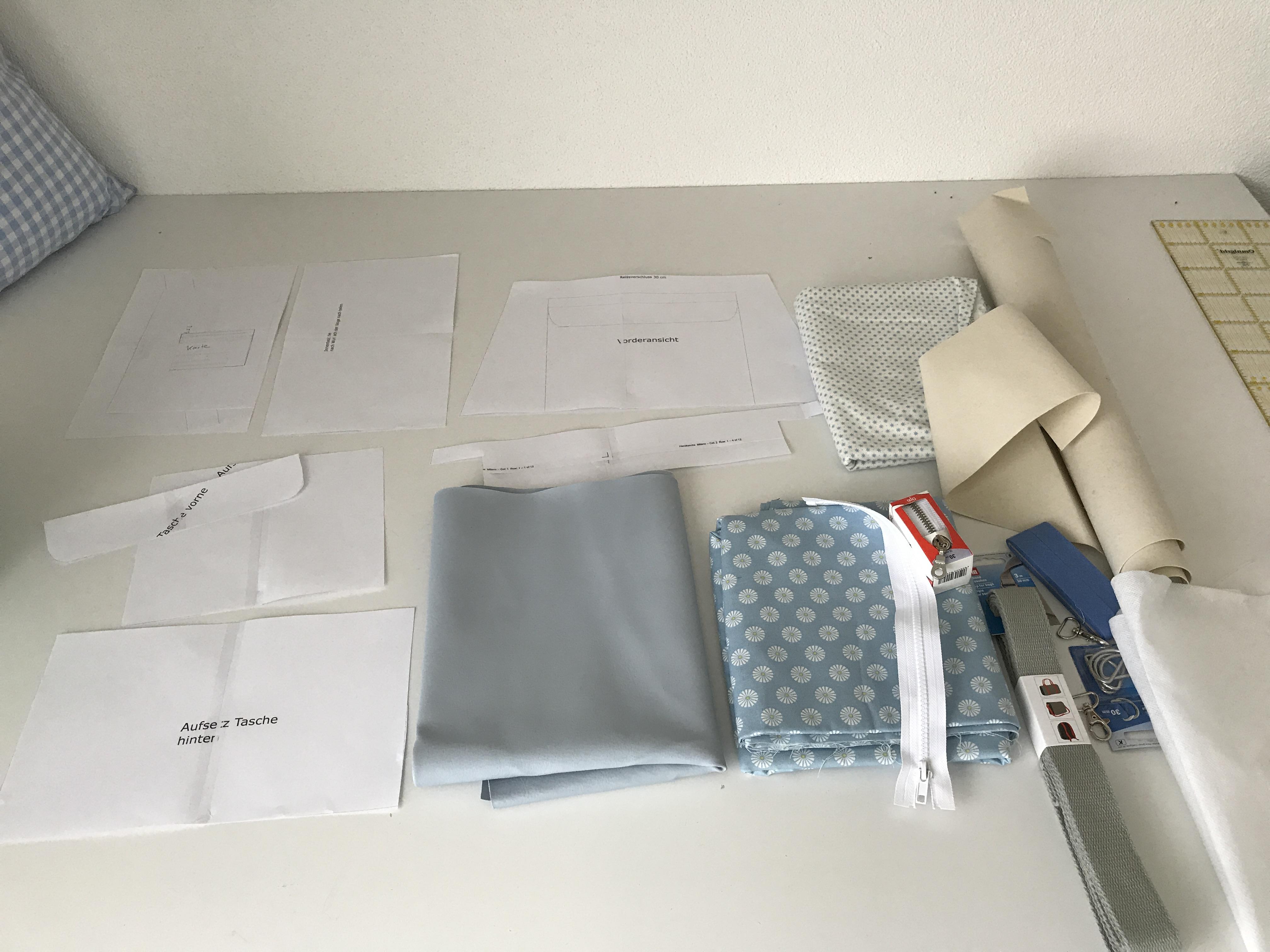handtasche n hen mit schnittmuster mit vielen innentaschen. Black Bedroom Furniture Sets. Home Design Ideas