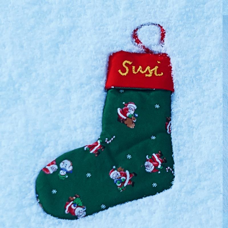 Stern und Stiefel nähen für Weihnachten mti Schnittmuster