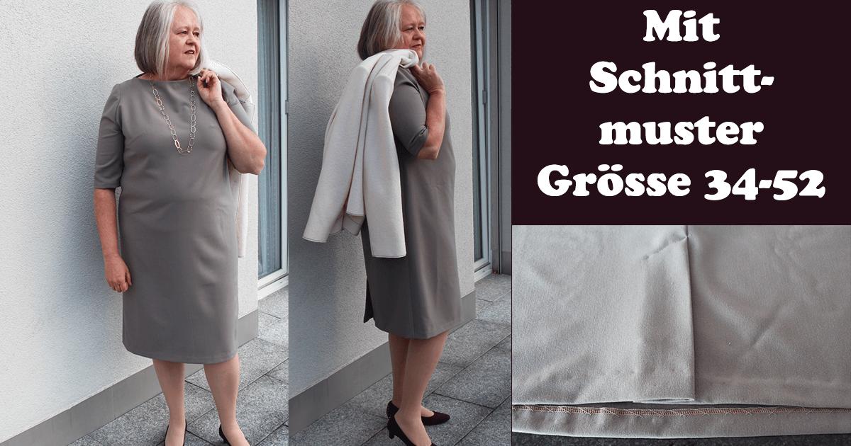 Kleid mit Gehschlitz nähen | Schnittmuster Grösse 34-52