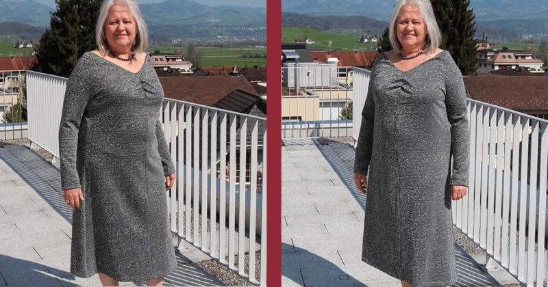 Kleid mit Raffung von Burda