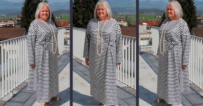 Kleid mit Knoten von Burda nähen