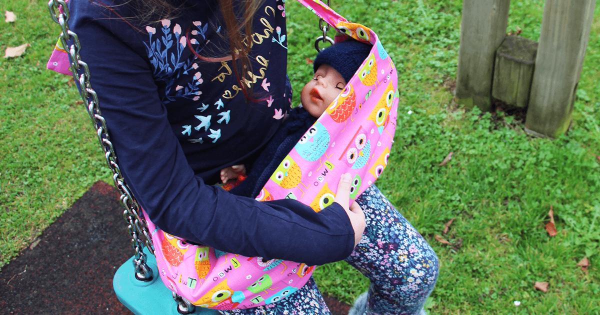 Tragetasche für Babypuppe nähen | Schnittmuster | Annabell | Baby Born