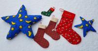 Stern und Stiefel nähen für Weihnachten