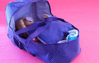 Tragetasche für BabyPuppe nähen mit Schnittmuster