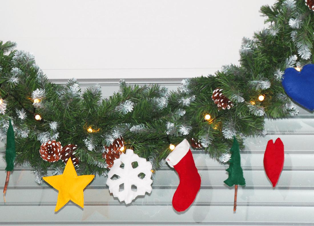 Weihnachtsdeko nähen mit Kindern