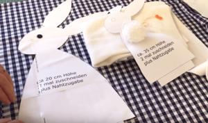 1 Material Osterhasen nähen mit Schnittmuster in 3 Grössen