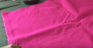 Fell-Clutsch nähen für Anfänger 2 Schnittmuster übertragen