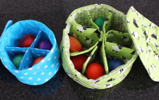 Wendeutensilo - Eierkörbchen mit Schnittmuster
