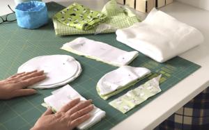 Wendeutensilo nähen mit Deckel - Zuschneiden