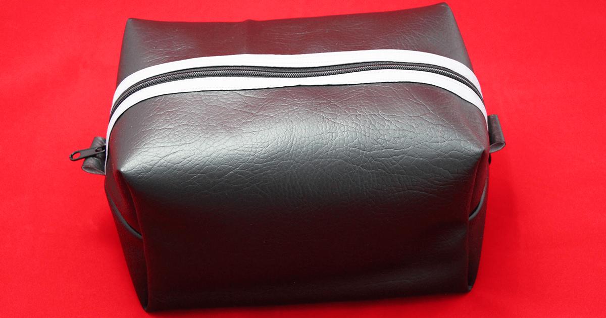 Kulturbeutel nähen für Männer | Kulturtasche, Waschtasche