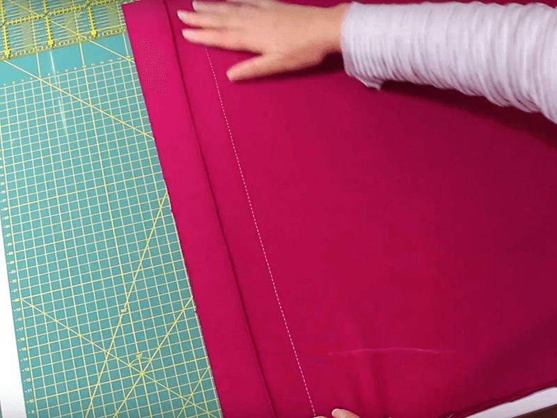 Ärmelschal nähen - 03 Schal Teile zusammennähen