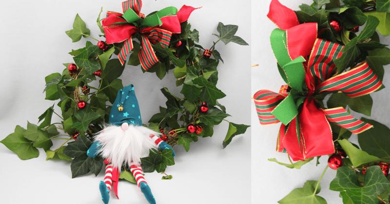 Türkranz mit Wichtel für Weihnachten und Advent