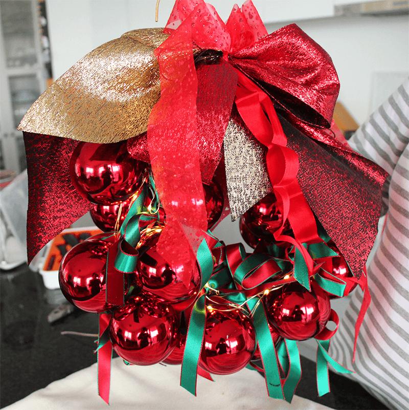 Türkranz für Weihnachten und Advent 8 Schleife anbinden