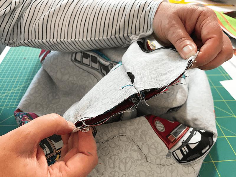 Tasche nähen mit Eingrifftasche - 10 Ecken Schliessen