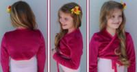 Bolero nähen für Mädchen mit Schnittmuster