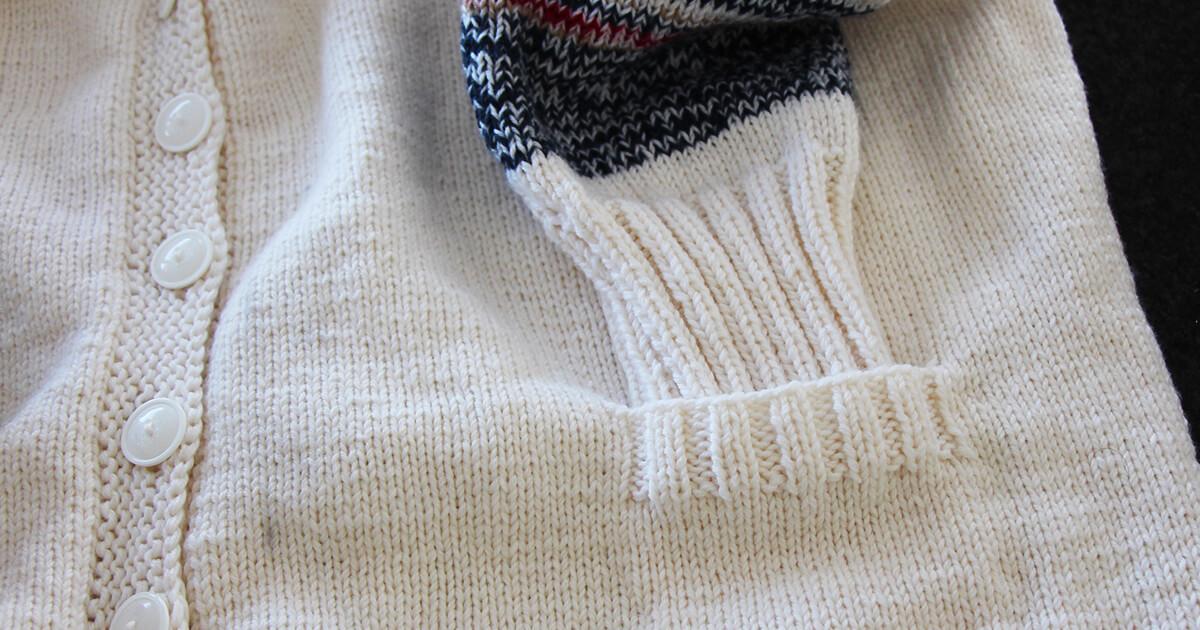 Eingestrickte Tasche stricken