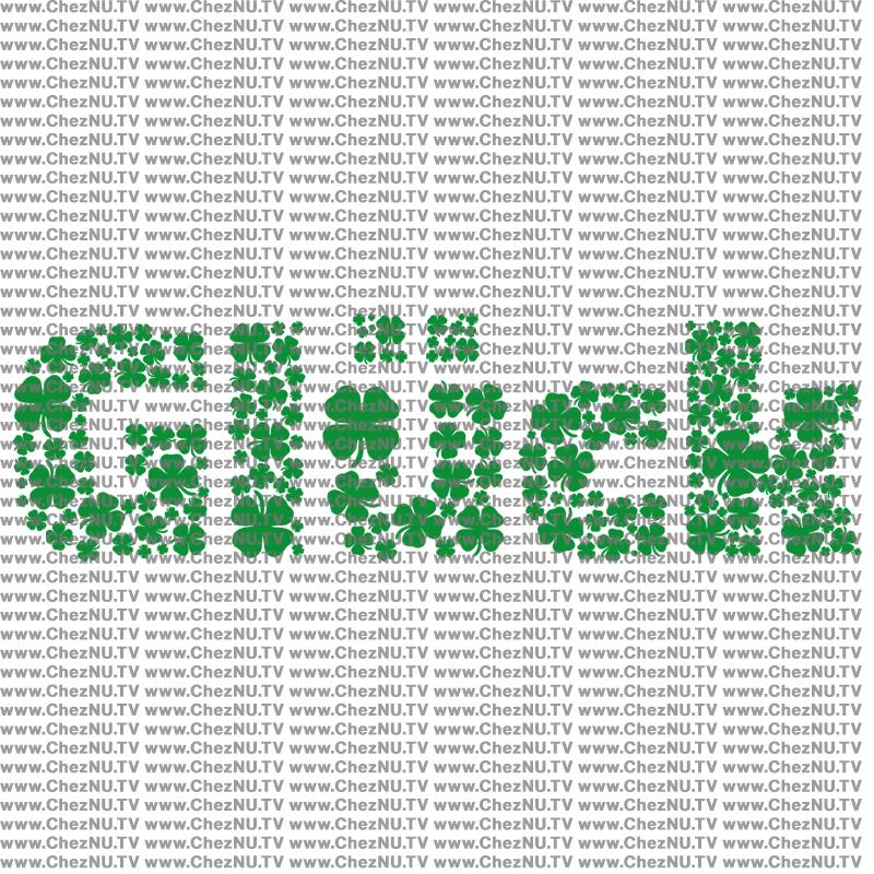 Glück aus Klee Schriftzug