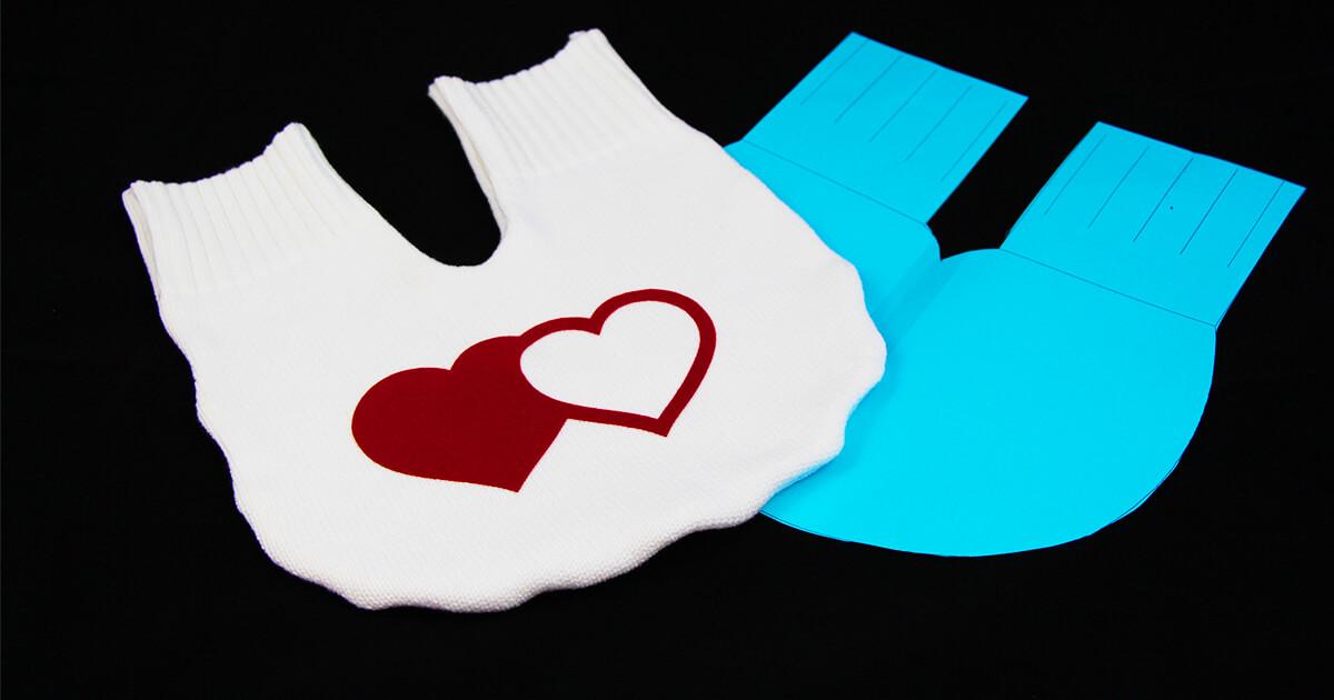 Partnerhandschuh nähen Upcycling mit Schnittmuster und Plotterdatei