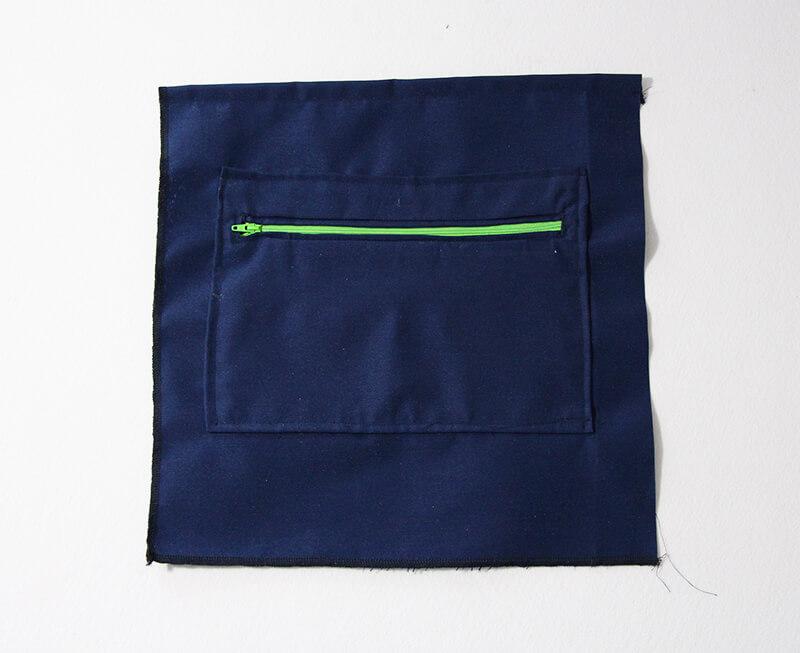 Tasche Hamburg - Vielseiteige Tasche nähen 02 Reissverschlusstasche