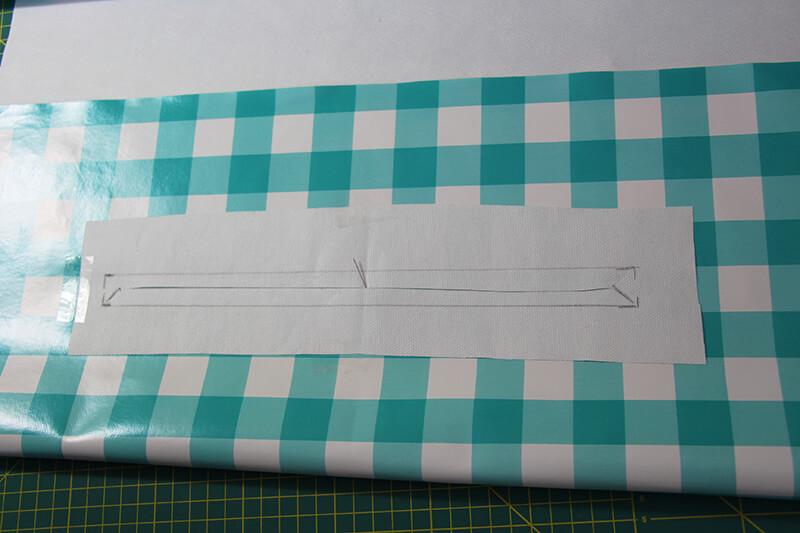 Tasche nähen mit Schnittmuster - Shopper München 02 Taschenschlitz Blende zuschneiden