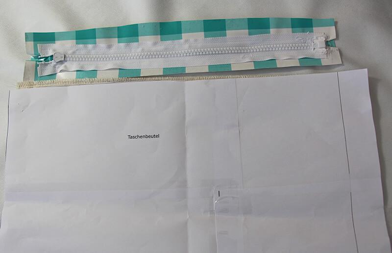 Tasche nähen mit Schnittmuster - Shopper München 06 Taschenbeutal annähen