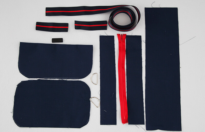 Tasche nähen - Citybag Boston mit Schnittmuster - 01 Schnittteile