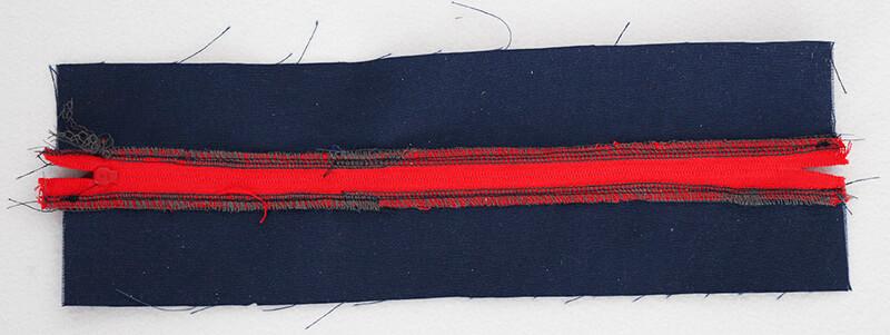 Tasche nähen - Citybag Boston mit Schnittmuster - 03 Reissverschluss